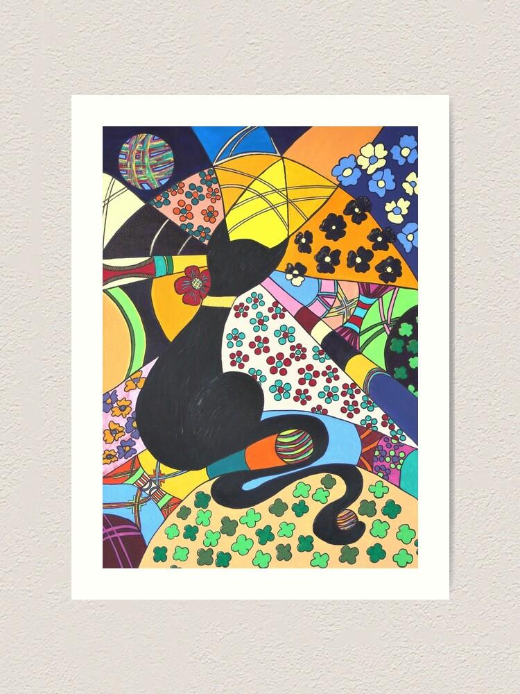 Alternative Ansicht von Lady-Kätz, Katze, cat, in Popart Kunstdruck