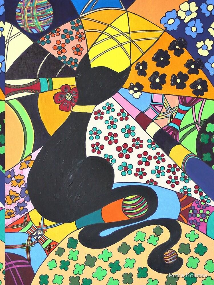 Lady-Kätz, Katze, cat, in Popart von Petra-Kolossa