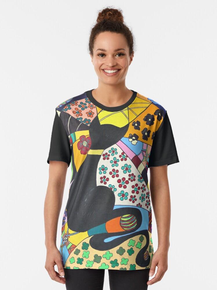 Alternative Ansicht von Lady-Kätz, Katze, cat, in Popart Grafik T-Shirt