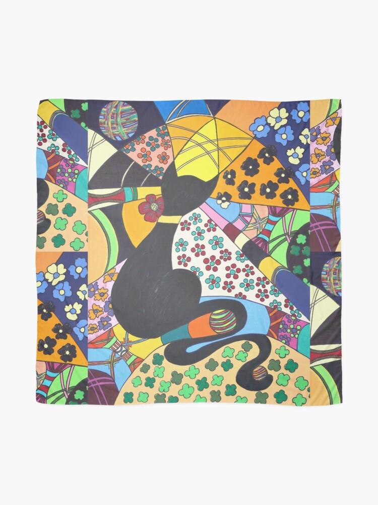 Alternative Ansicht von Lady-Kätz, Katze, cat, in Popart Tuch