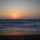 Colorful Sunset on the Beach - Rhodes Island, Greece by George Limitsios