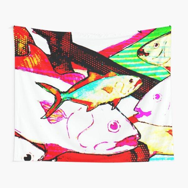 Fish & Flower Art Image 09 Tapestry