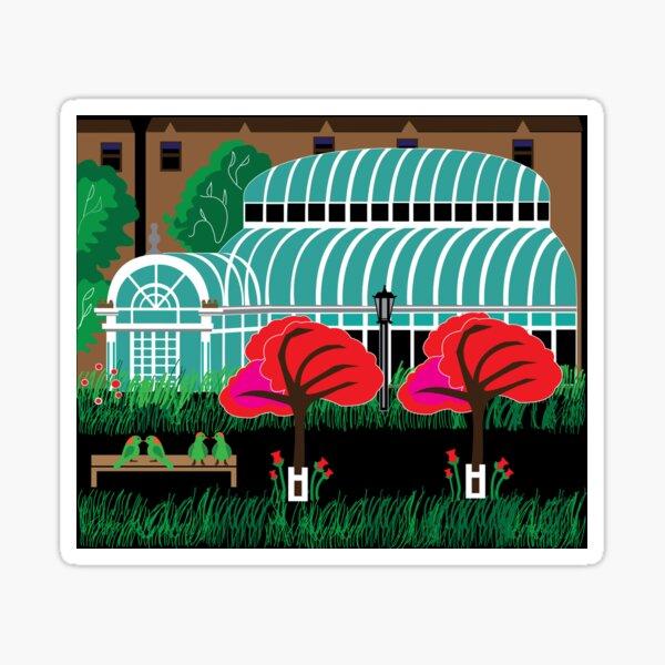 Lovebirds in the Garden Sticker