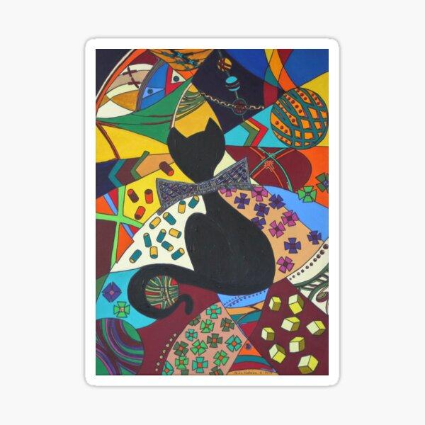 Gentleman kitty, cats in pop art Sticker