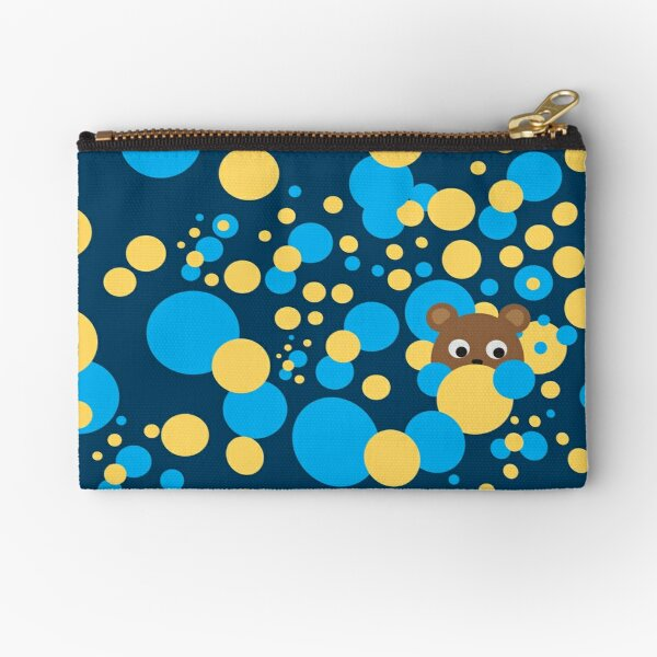 Teddy Bear: Bubbles Zipper Pouch