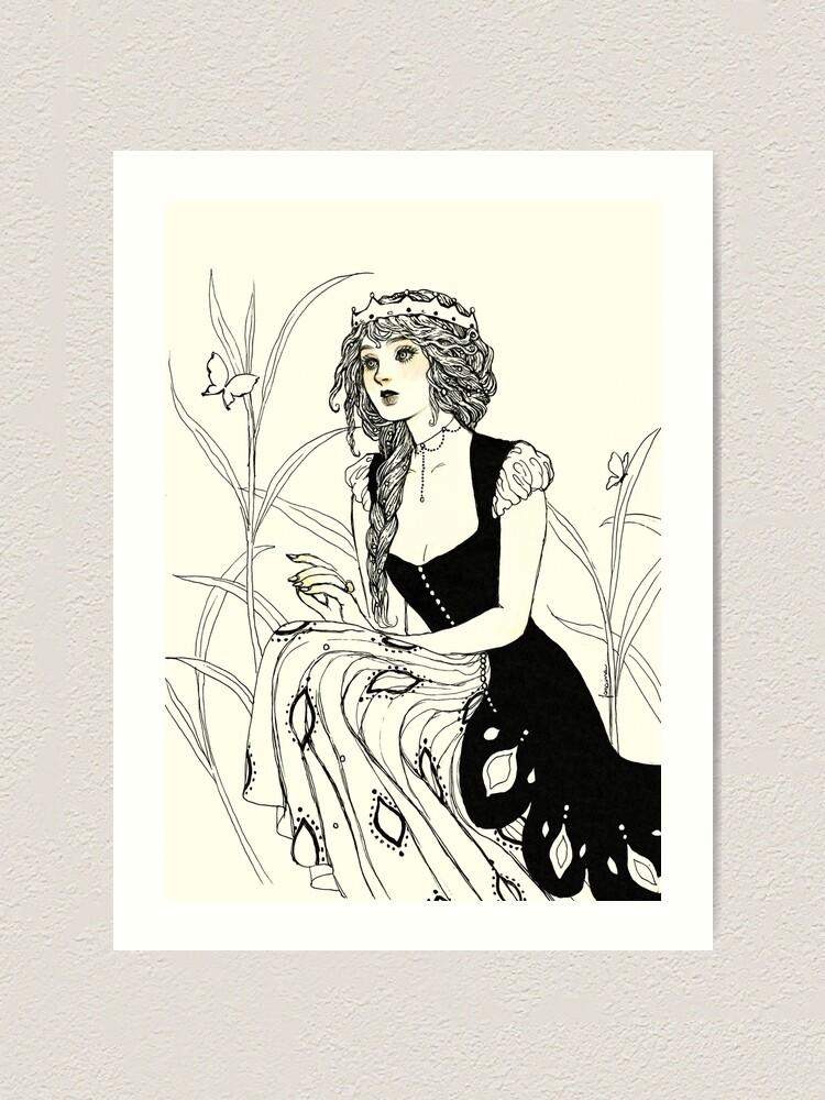Alternate view of Guinevere Art Print