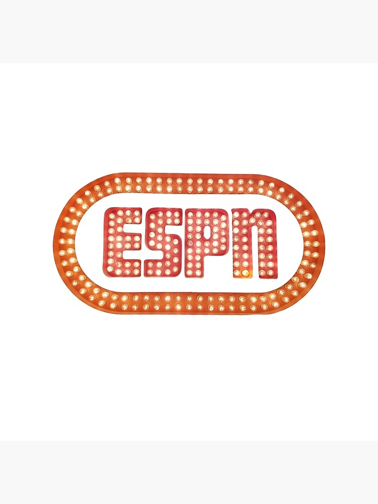 Espn Vintage Logo Greeting Card By Smoggysmoggy Redbubble