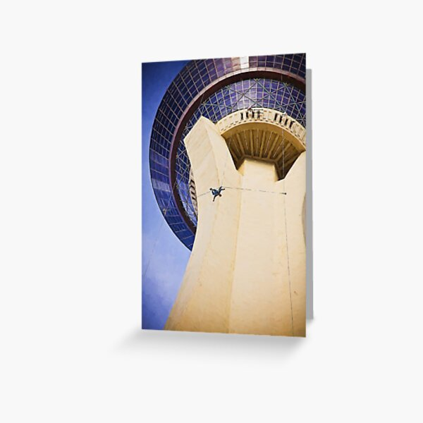 Stratosphere Tower Jumper Las Vegas Greeting Card