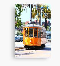 Number 1856 - Milan Streetcar in San Francisco  Canvas Print