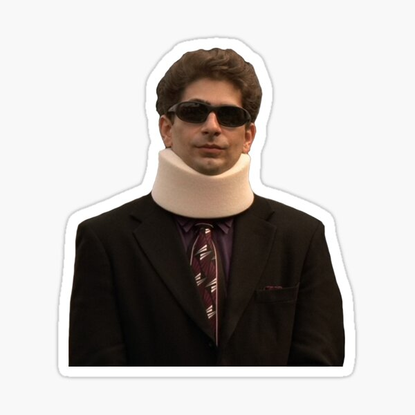 Chrissy Neck Brace Sticker
