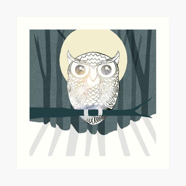 Owl is Calm Art Print
