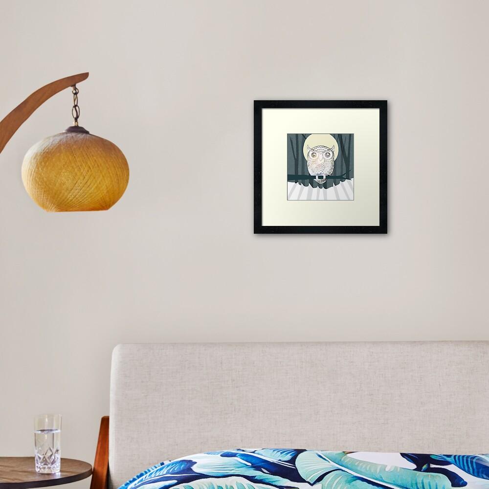 Owl is Calm Framed Art Print