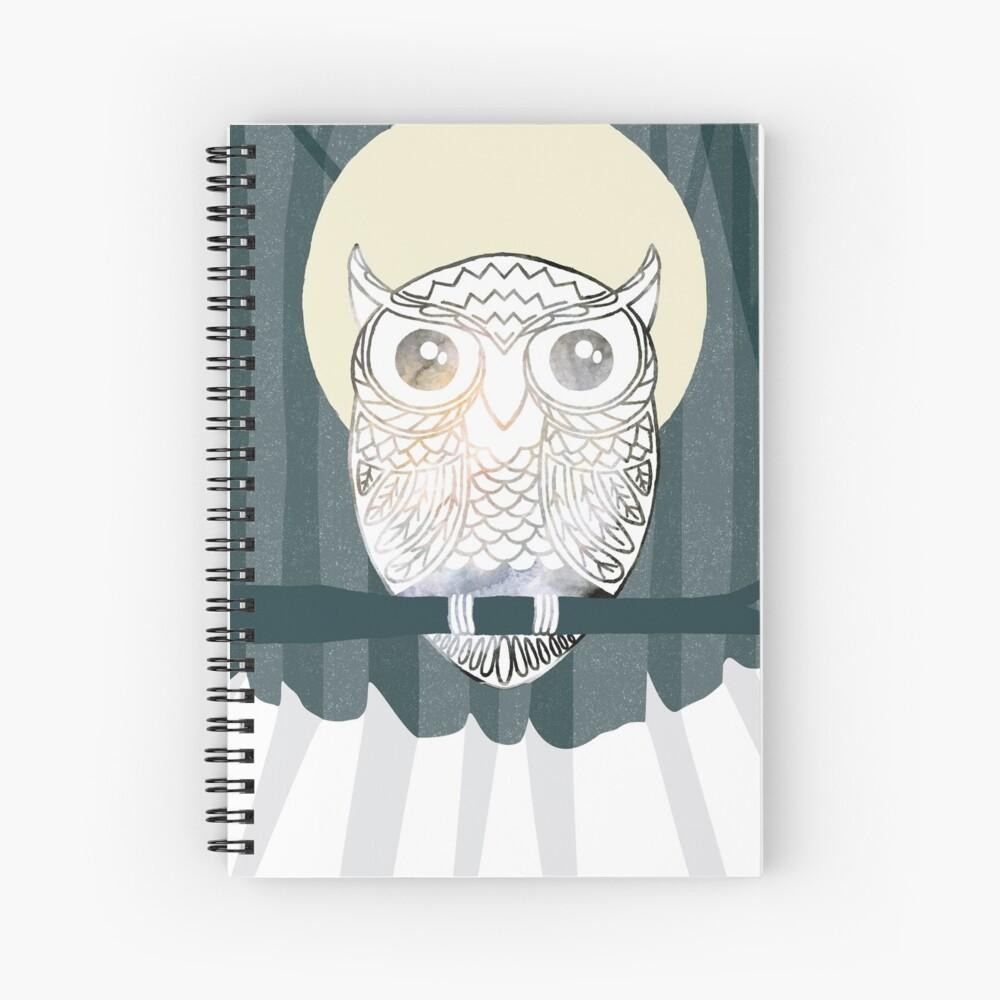 Owl is Calm Spiral Notebook