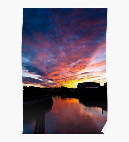 Salem South River Sunset Poster