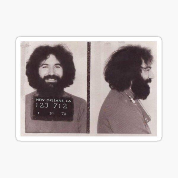 Jerry Garcia Mugshot Sticker