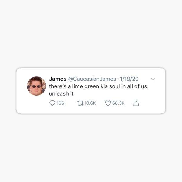 Lime Green Kia Soul Sticker