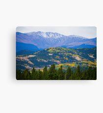Colorado Rocky Mountain Autumn View Canvas Print