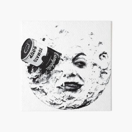 Can in the Moon Art Board Print
