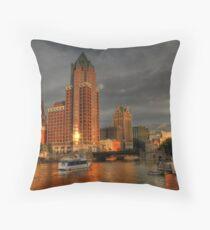 Milwaukee Riverboat Throw Pillow