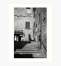to the trattoria Art Print