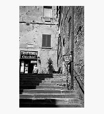 to the trattoria Photographic Print