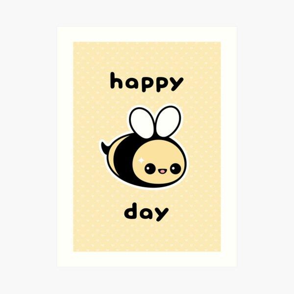 Cute Bee Birthday Art Print