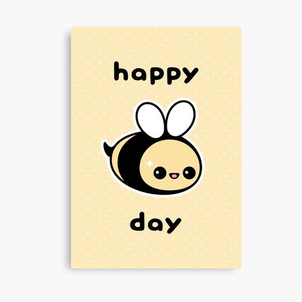 Cute Bee Birthday Canvas Print