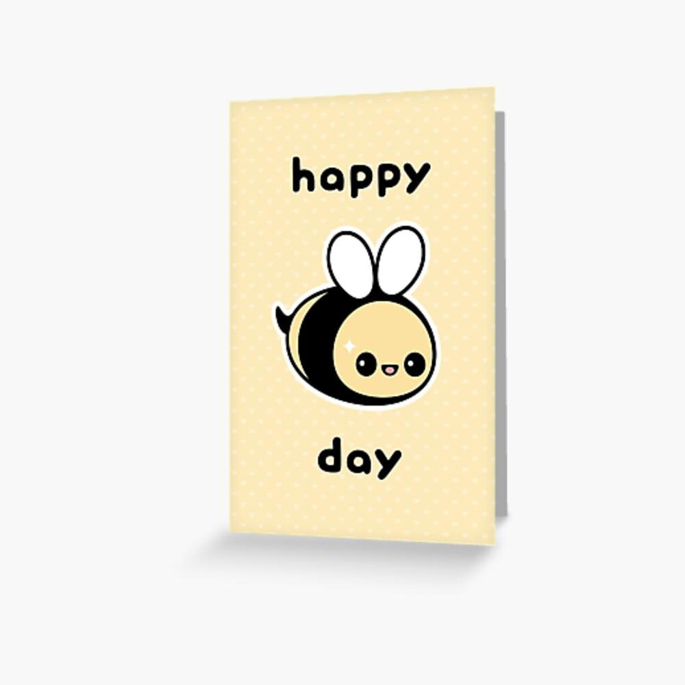 Cute Bee Birthday Greeting Card
