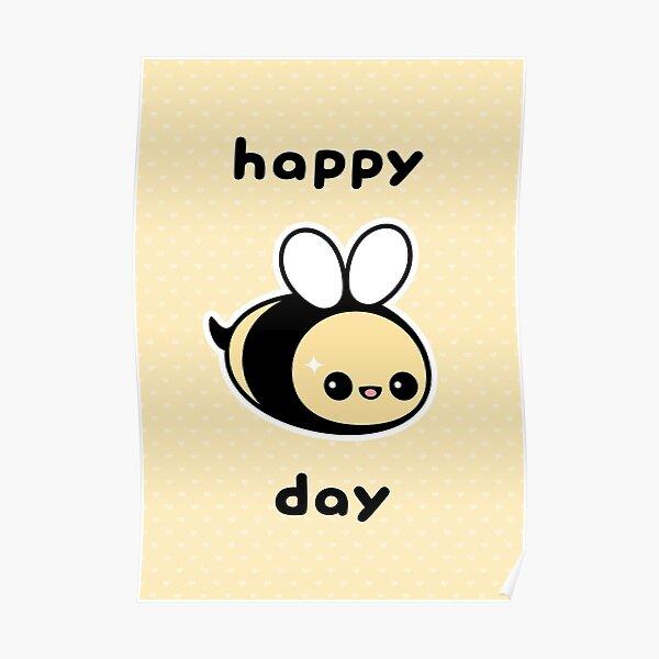 Cute Bee Birthday Poster