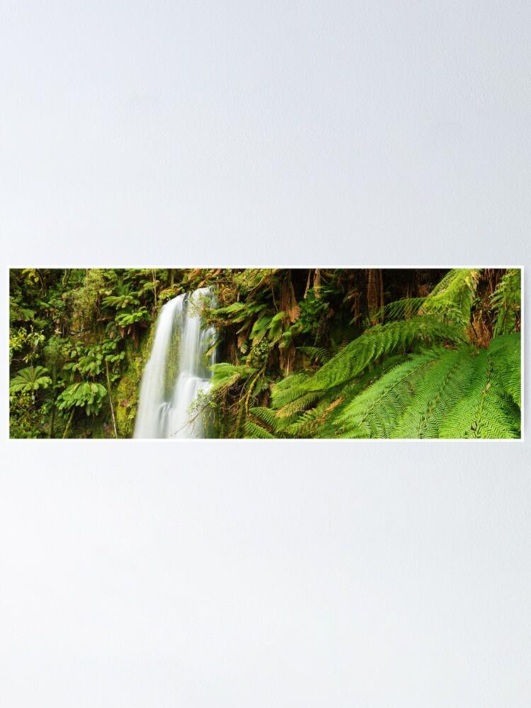 Alternate view of Beachamp Falls, Otways, Victoria, Australia  Poster