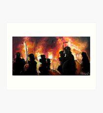 London Riots 2011 Art Print