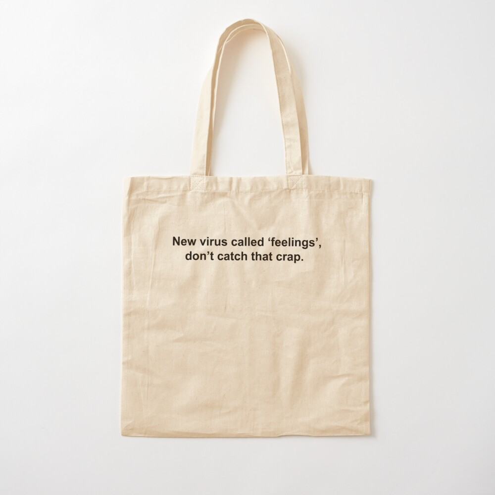 Rustic Don/'t Catch Feelings Tote Canvas Tote Tote Bag Gift For Her Cute Totes Single Market Bag