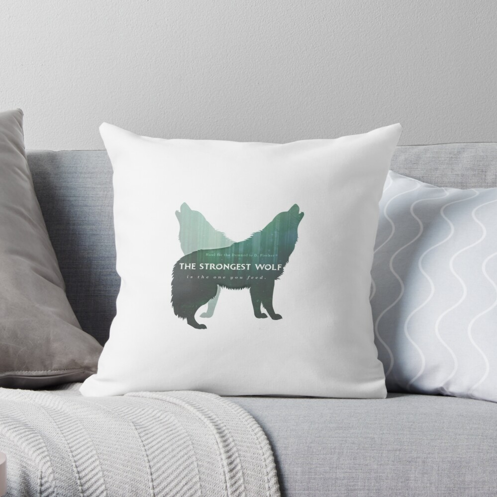 Howl for the Damned Throw Pillow