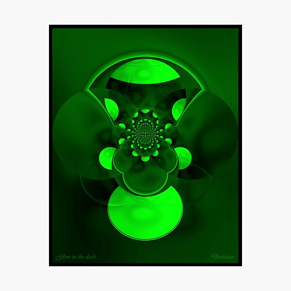 Glow in the dark digital abstract Photographic Print