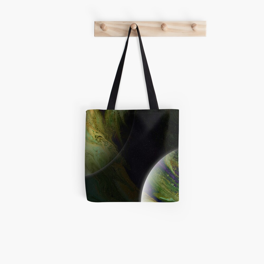 Approaching Conjunction: Outer Space Planet Art Tote Bag