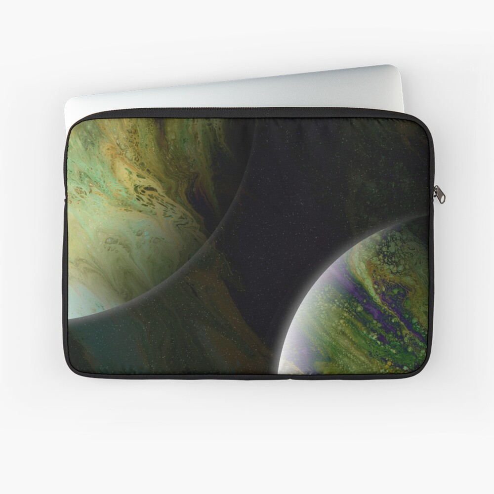 Approaching Conjunction: Outer Space Planet Art Laptop Sleeve