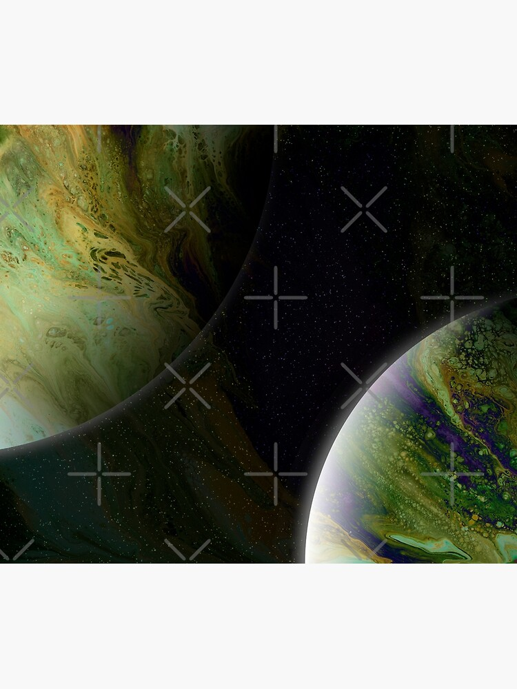 Approaching Conjunction: Outer Space Planet Art by kerravonsen