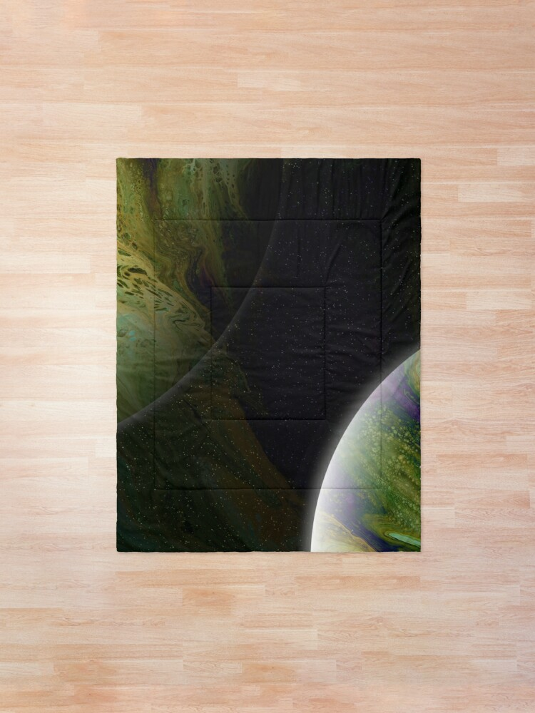 Alternate view of Approaching Conjunction: Outer Space Planet Art Comforter
