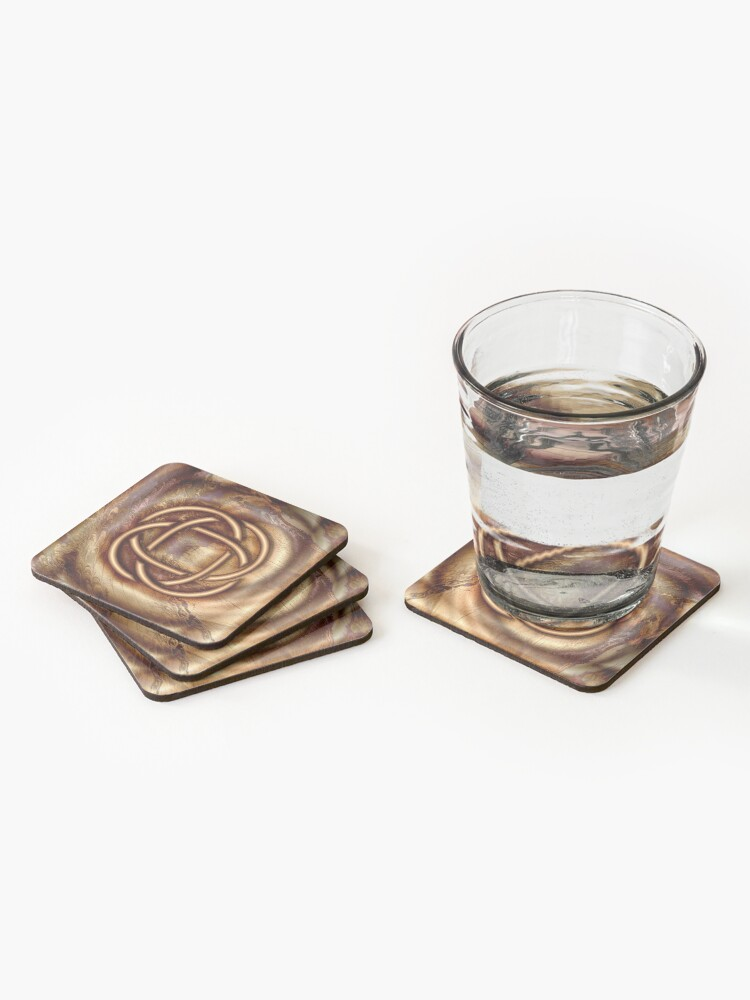 Alternate view of Knot Of Four: Bronze Celtic Knot Coasters (Set of 4)