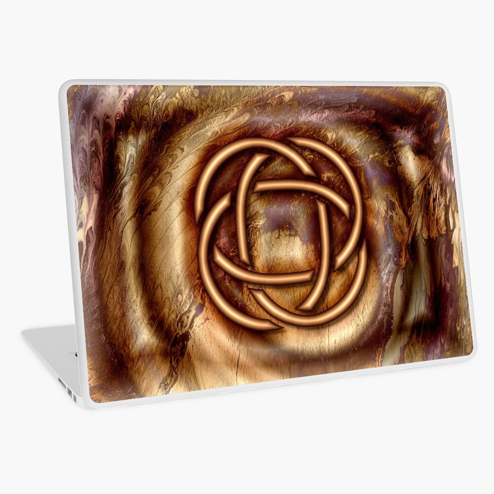 Knot Of Four: Bronze Celtic Knot Laptop Skin