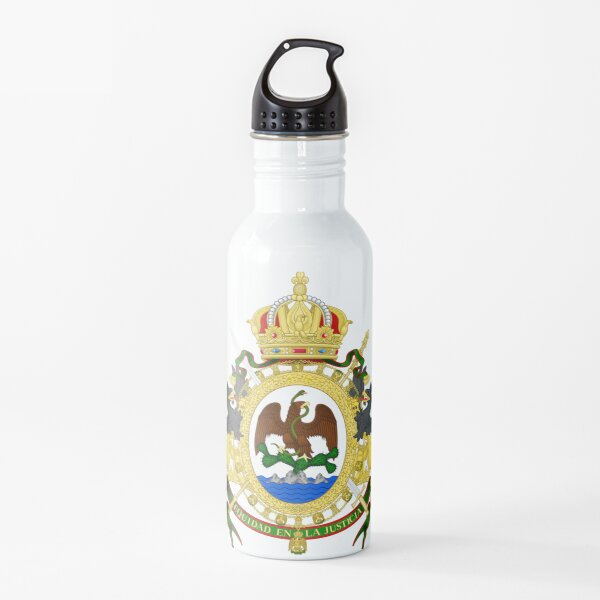 Coat of Arms of the Second Mexican Empire Water Bottle