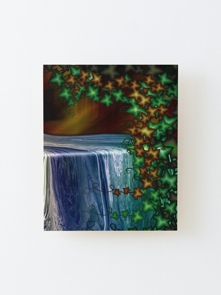 Alternate view of Forest Waterfall Mounted Print