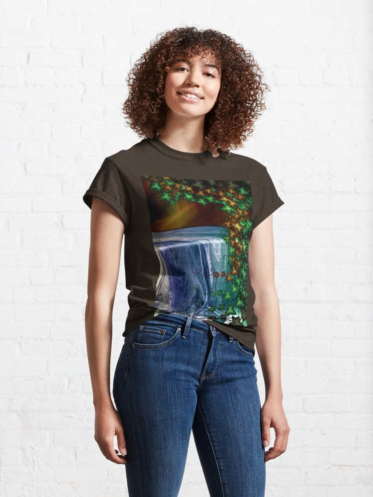 Alternate view of Forest Waterfall Classic T-Shirt
