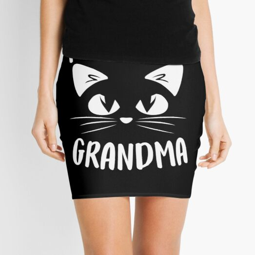 Purrfect Grandma Mini Skirt