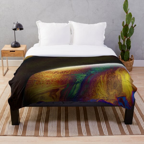 Planet Delta: Outer Space Art Throw Blanket
