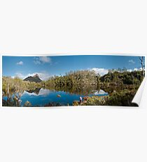 Lake Price with Mount Pillinger towering into the sky Poster
