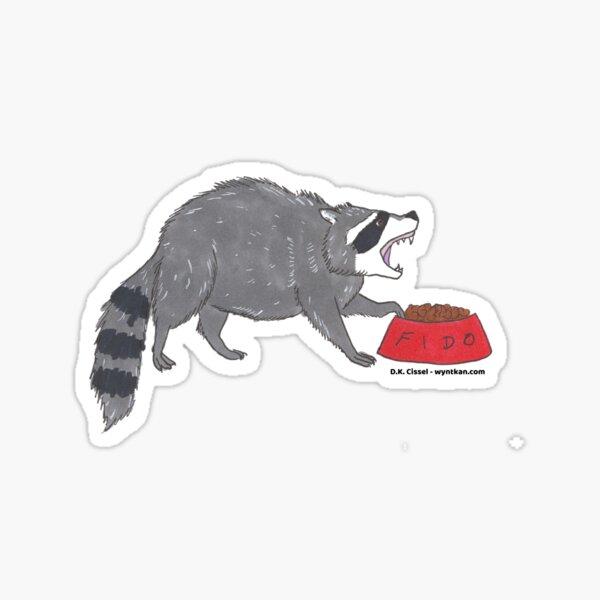 Angry Raccoon Sticker