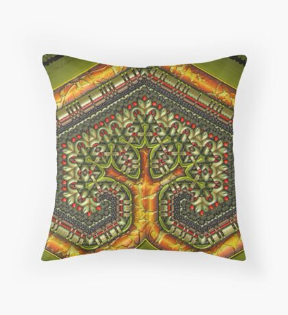 Autumn Christmas Tree Throw Pillow