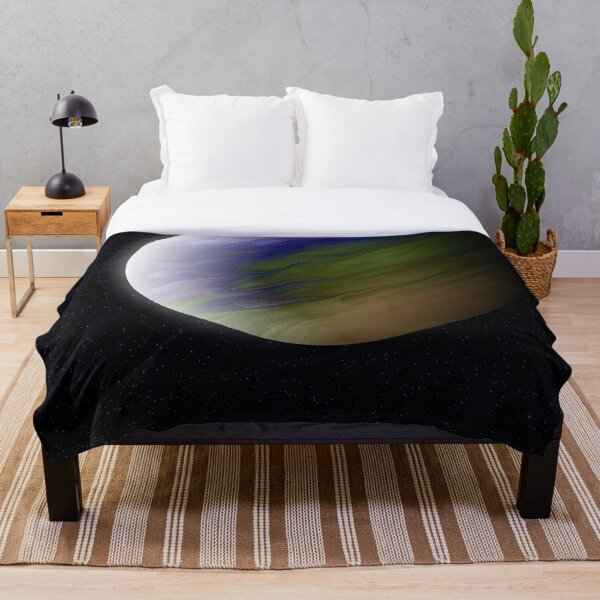 Planet Zeta: Outer Space Art Throw Blanket