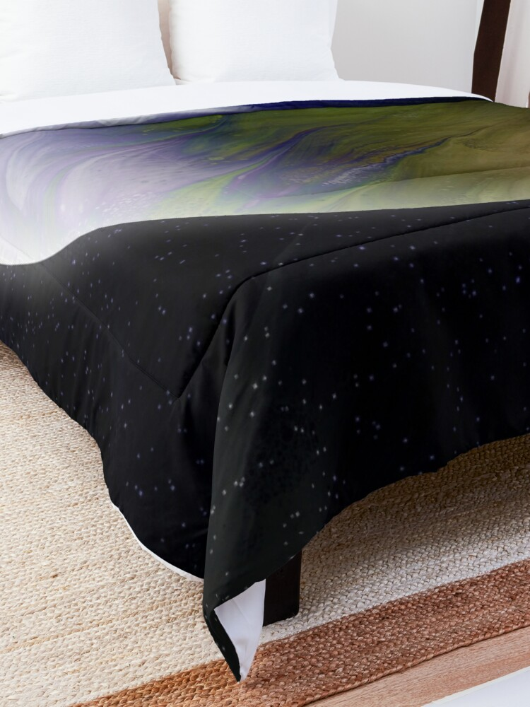 Alternate view of Planet Zeta: Outer Space Art Comforter